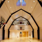 Nashoba Barn Concord Massachusetts basketball soccer, steel framing, gambrel, traditional barn, loft
